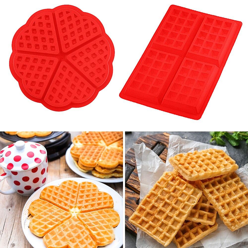 DIY Waffle modelo de molde antiadherente cocina hacer pastel ACCESORIOS Herramienta de cocina caliente