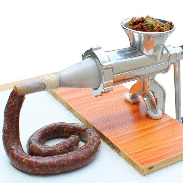 Picadora de carne de aleación de aluminio, máquina de molienda de fideos, utensilios de mano, máquina para hacer Pasta, rebanada de carne con