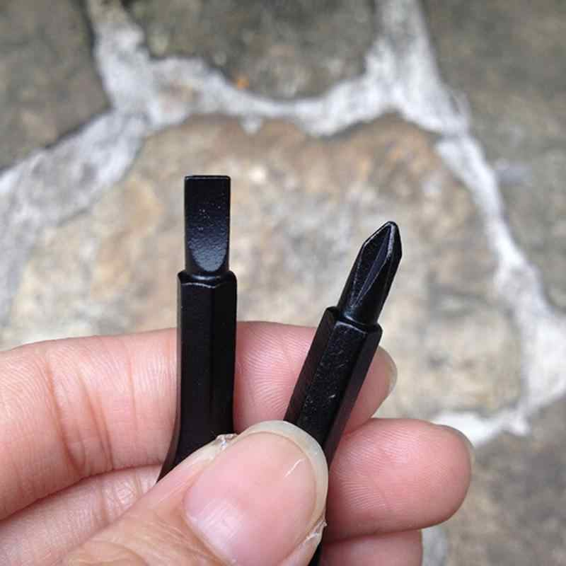 1 jeu de tournevis Phillips clé forme précision en acier moulé Mini fendu porte-clés poche réparation EDC outils multifonction Kit de voyage