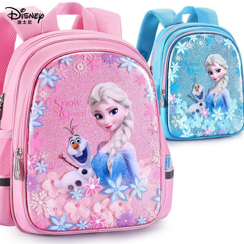 Original Children's School Bag Kindergarten Female 5 Years Old 3 Big Class Child Disney Frozen 2 Aisha Princess Girl Backpack