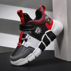 Image 1 - Детские кроссовки, обувь для мальчиков, модная кожаная обувь для девочек, нескользящая обувь для бега для девочек, кроссовки, Детские лоферы, осень 2020