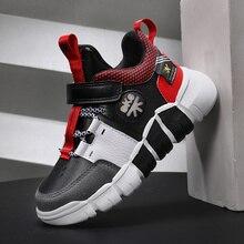 Zapatillas de deporte antideslizantes para niños y niñas, zapatos de cuero a la moda, para correr, Otoño, 2020