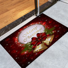 Christmas Doormat Anti-slip Santa Claus Flannel Home Bathroom Door Mat Christmas Decorations Home Party Indoor Carpets 2019#T2(China)