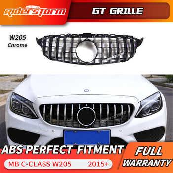Grille Gt pour W205 Grille GTR avant pour Mercedes Benz W205 c180 c200 c250 c300 c43 2015 + grille 2019 grille de course avant