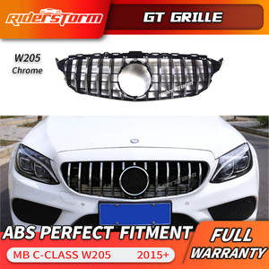 Image 2 - Gt grille For W205 Front GTR Grill for Mercedes Benz W205 c180 c200 c250 c300 c43 2015+ Grille 2019 front racing grille