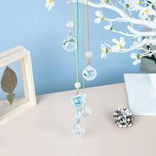 Подвесными кристаллами в стиле «Ловца снов» радужной расцветки с украшением в виде кристаллов орнамент хрустальный шар призмы фэн-шуй кристаллы Suncatchers для сада окна Decora