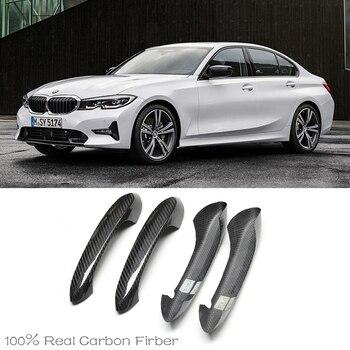 for BMW 3 series G20 320d 330i M340i M sport 340i 2019 2020 High Quality Carbon Fiber Door Handle protection cover Trims Fits