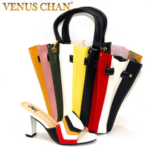 Ladies Shoes Wedding Party Italian-Design Multicolor Hot-Selling New-Arrival And Bag-Set