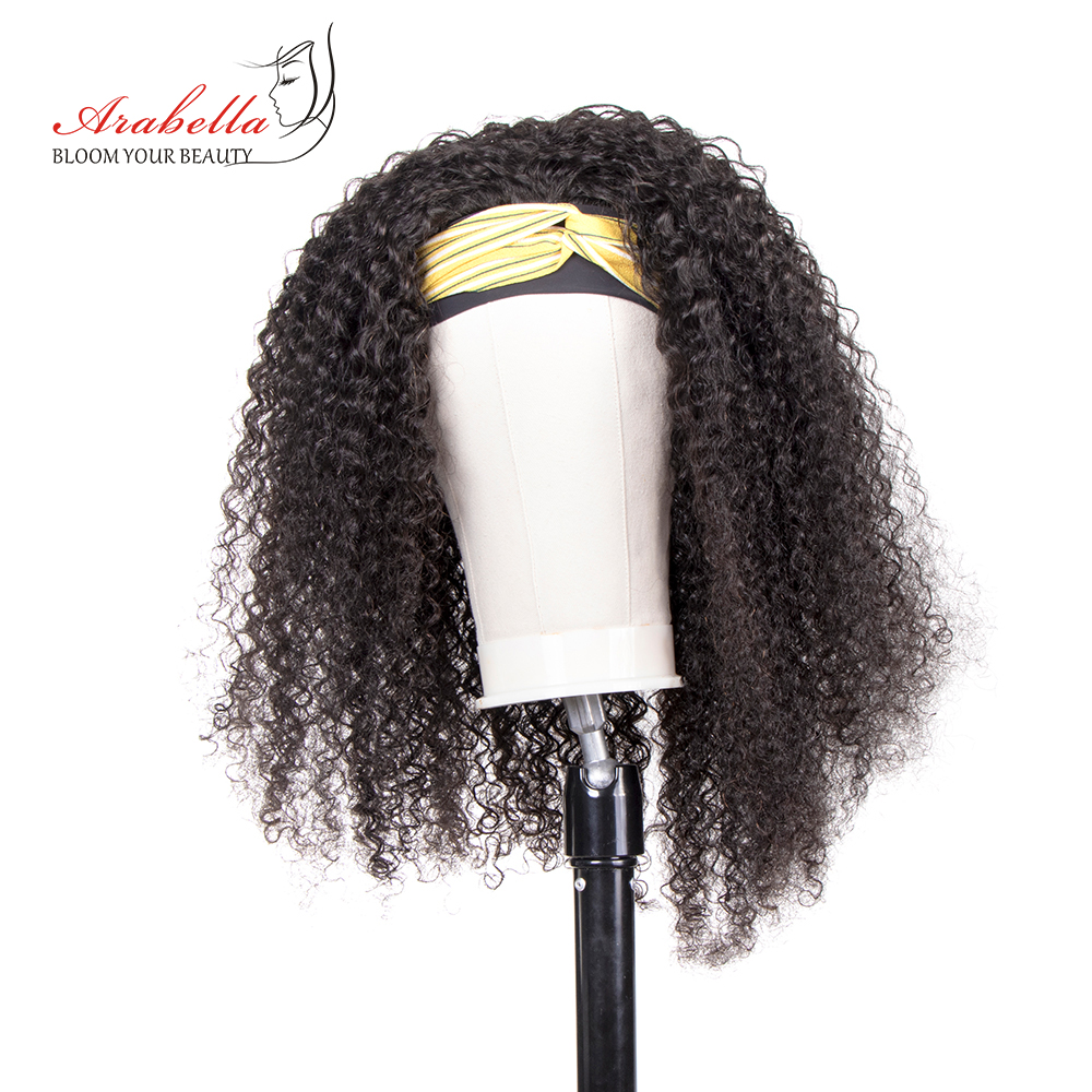 Jerry Curly  Wigs With Headband  Hair Full Machine Made Wig  Easy to Install ARABELLA Glueless Wig 3