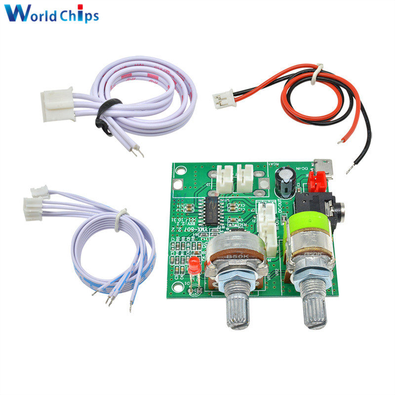 DC <font><b>5V</b></font> 20W <font><b>2.1</b></font> Channel 3D Surround Digital Stereo Class D <font><b>Amplifier</b></font> AMP Board Module For Arduino With Wires -40 TO +85 image