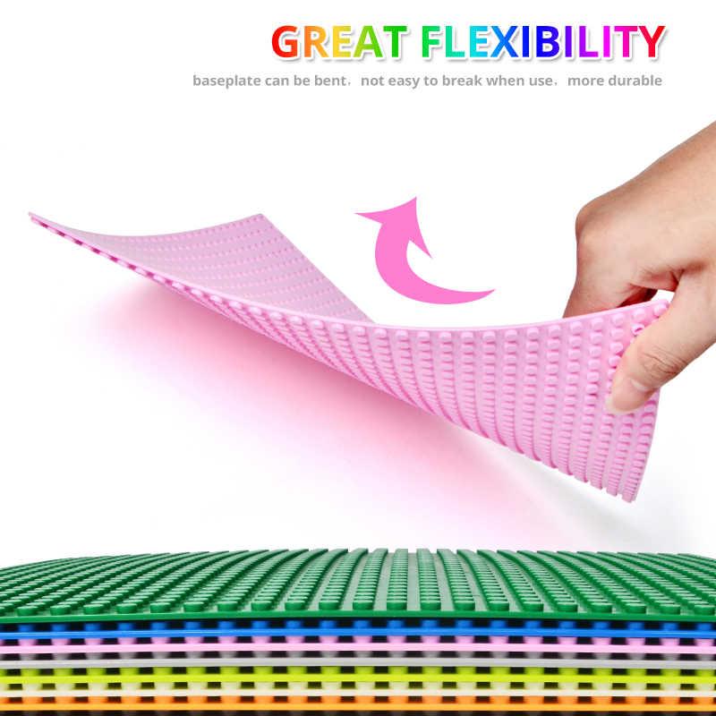 10 Jenis Colorful Classic Pelat Dasar Plastik Bata Baseplates Cocok Dimensi Blok Bangunan Konstruksi Mainan