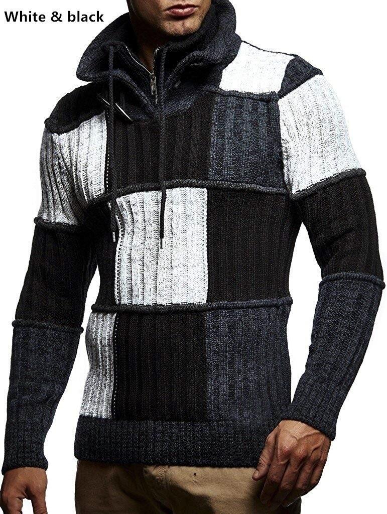 ZOGAA 2019, однотонный вязаный мужской свитер в клетку, одежда, мужской Рождественский свитер, одежда 2019, зимний мужской пуловер и свитер для мужчин, пальто - 2
