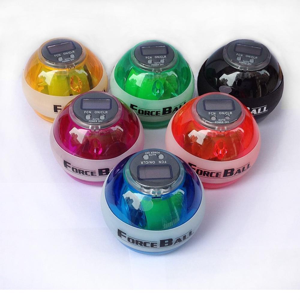 Wrist Ball Gyroscope Porceball Wrist Exerciser Power Strengthener Force Ball Gyro Athletic Wristball Hand Spinner With LED Speed