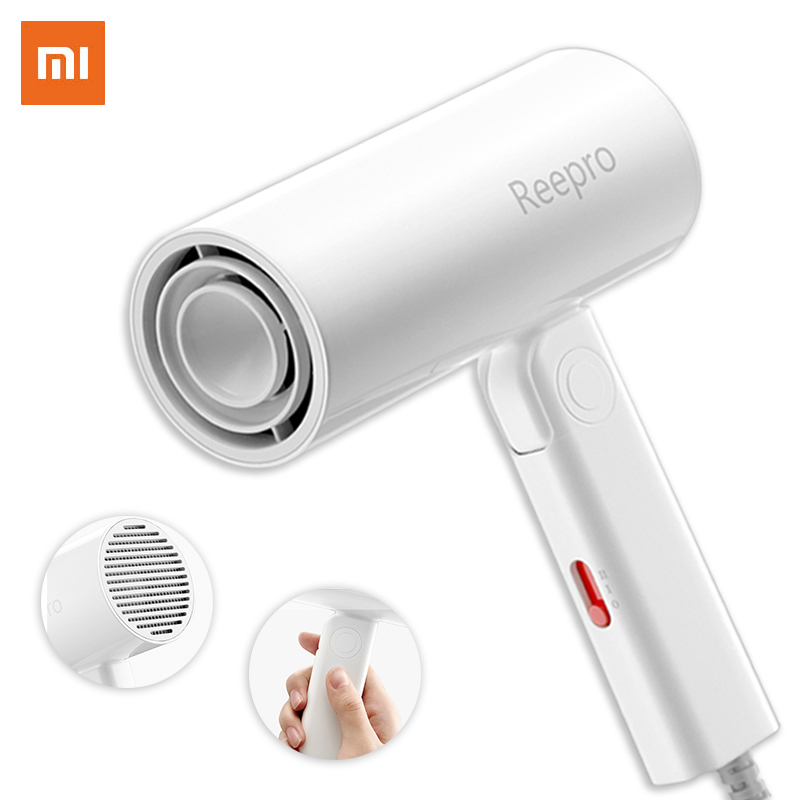 1PC Xiaomi Youpin Reepro 1300W Professional Hair Dryer Quick Drying Folding Handle Hair Dryer RP-HC04 White With High Quality
