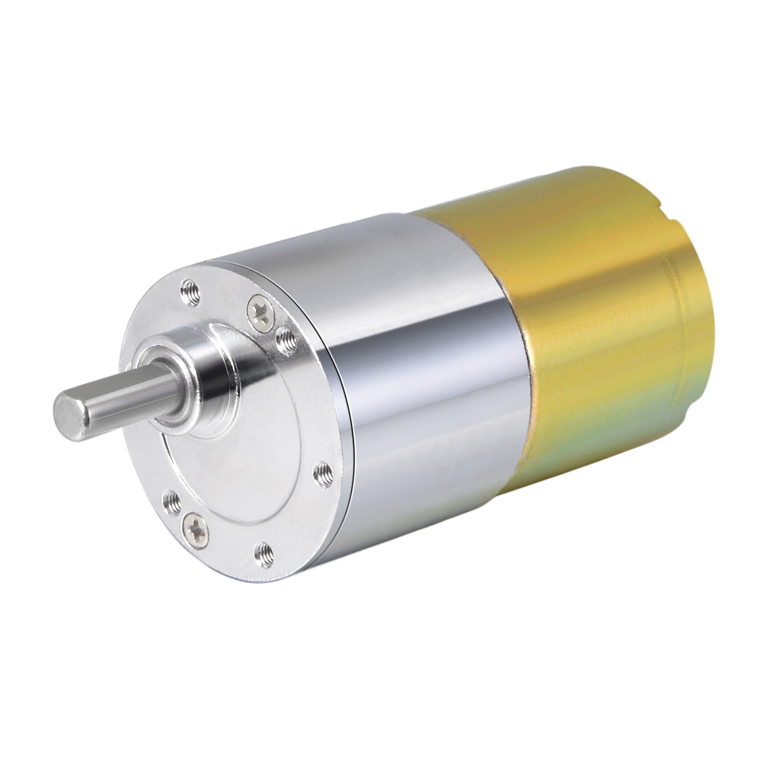 uxcell 24V DC <font><b>50</b></font> <font><b>RPM</b></font> Gear <font><b>Motor</b></font> High Torque Electric Reduction Gearbox Eccentric Output Shaft image