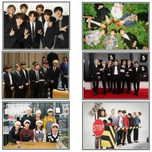 Korean K-POP Band Bangtan boys Poster New style latest poster decoration painting hd photo paper 2067(China)