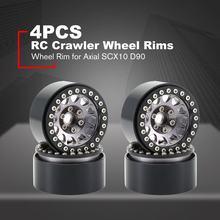 4 шт. 1,9 металлический обод колеса Beadlock для 1:10 RC Crawler Traxxas Hsp Redcat Tamiya Axial Scx10 D90 Hpi аксессуары для шин