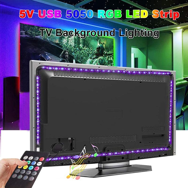 0.5M LED bluetooth lumière chambre armoire armoire cuisine lumière musique contrôle nuit lampe USB LED RGB décoration éclairage lampara