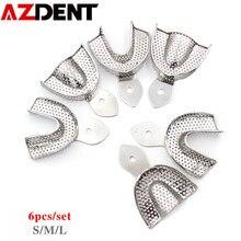 6 pièces/ensemble porte-Empreinte Dentaire En Acier Inoxydable Plateau de Dents Autoclavable pour Instruments Dentaires Plateaux Outils de Dentiste Dents Plateau De Support