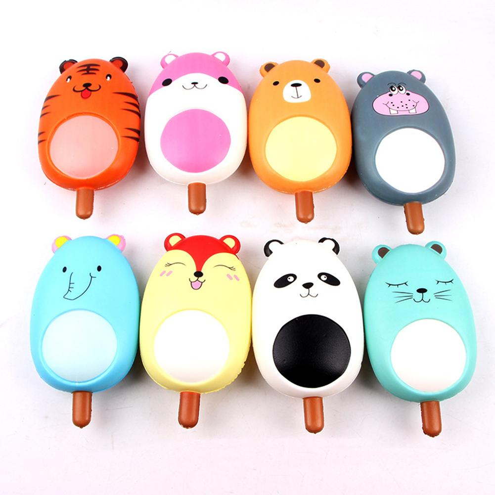 Cartoon Panda Tiger Animal Popsicles Slow Rising Stress Vent Squeeze Kids Toy New