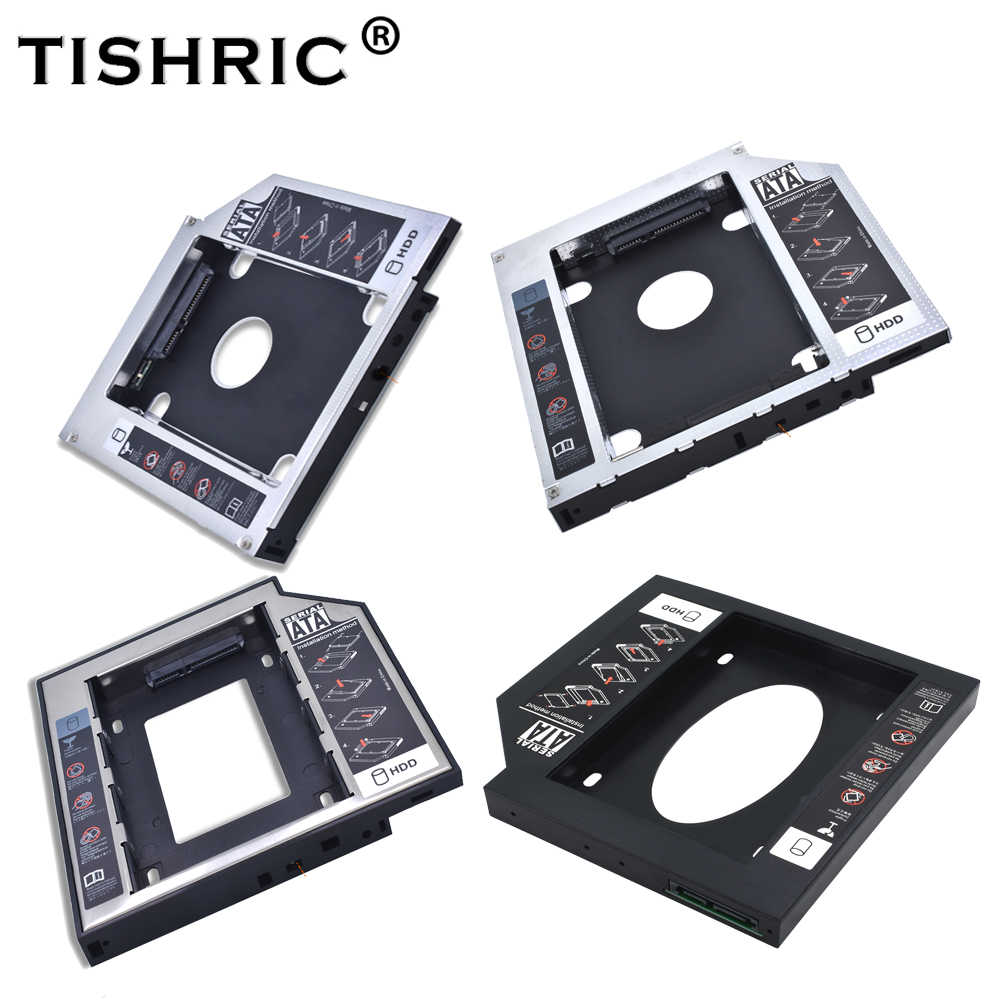 "Tishric aluminium/plastik uniwersalny 12.7mm SATA 3.0 2.5 ""obudowa HDD Caddy obudowa DVD HDD twardy do laptopa Optibay CD-ROM"