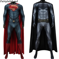Batman v Superman Dawn of Justice Cosplay costume printed Bodysuit Bruce Wayne Jumpsuit Outfit Steel Superman Clark Kent Costume