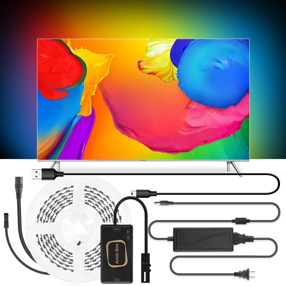 Ambilight-TV Backlight Kit Led Strip Light RGB For TV PC Monitor Backlight Dream Screen Decoration USB Led Strip 1M/2M/3M/4M/5M