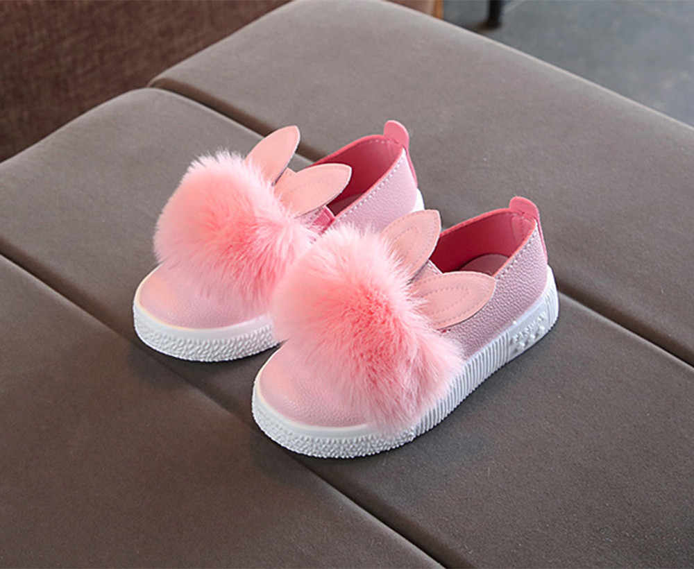 Baby Shoes for Girls Shoes Rabbit ears solid cute Fashion kawaii sneakers Soft Non-Slip Shoes 2019 For Girl Princess Chaussure