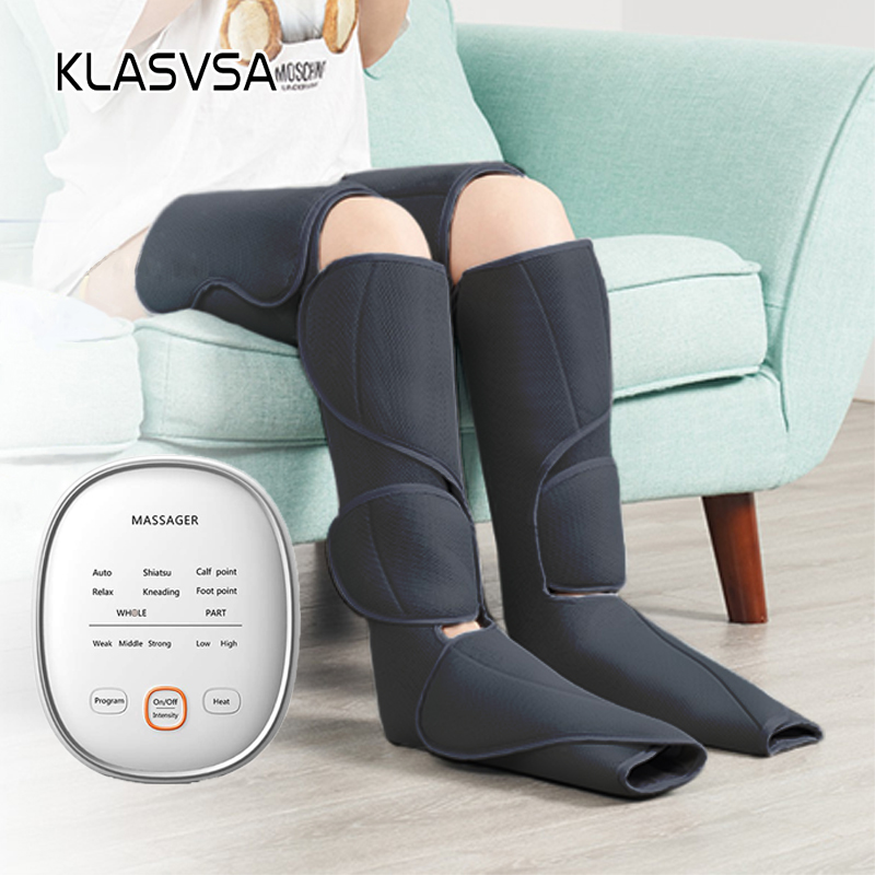 KLASVSA Leg Air Compression Massager Heated for Foot and Calf Thigh Circulation with Handheld Controller 2 Modes 3 Intensities|Leg Massage Apparatus| - AliExpress