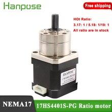 Livraison gratuite Nema17 17HS4401S PG5.18:1 extrudeuse engrenage moteur pas à pas rapport en option réducteur planétaire pas à pas pour imprimante 3D