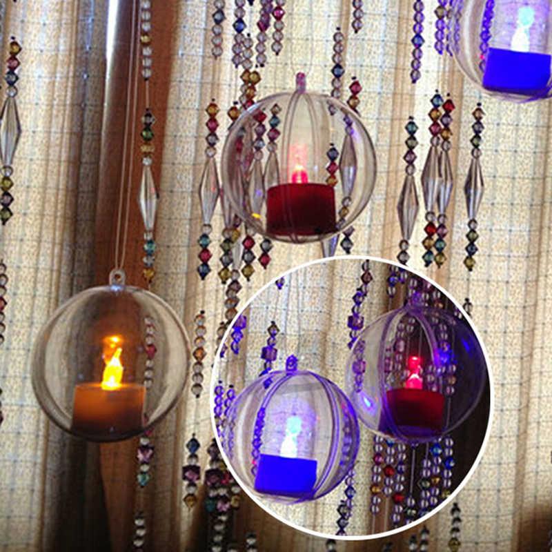 5 Pcs Kerst Haarlok Decoraties Bal Transparante Open Plastic Clear Snuisterij Ornament Gift Huidige Doos Decoratie