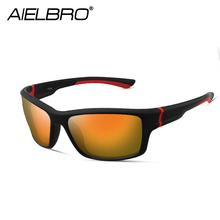 AIELBRO Brand 2019 New Fashion Men Women Hiking Sunglasses UV400 Square Sports Driving Classic Bicycle Riding Glasses