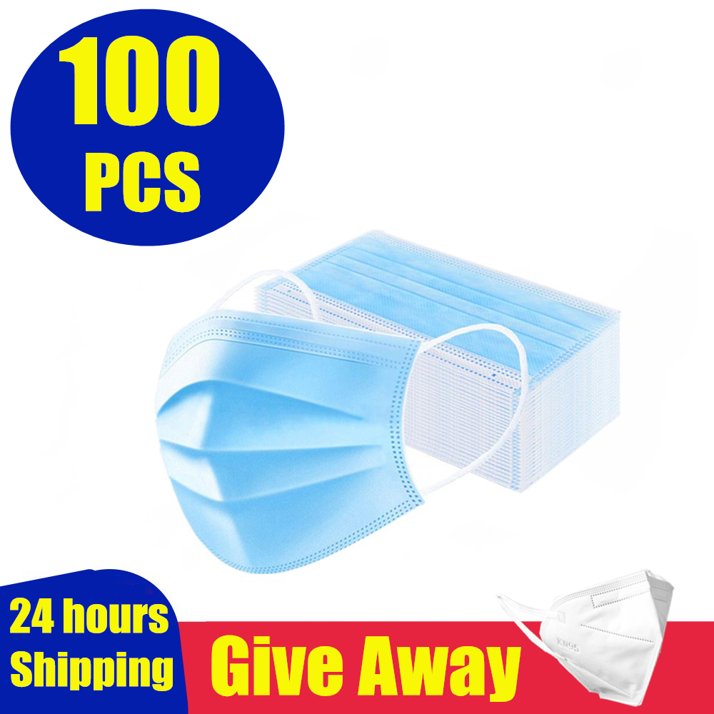 5-10pcs Protective Mask Face Mouth Anti Virus Mask Disposable Protect 3 Layers Filter Dustproof Earloop Non Woven Mouth Masks