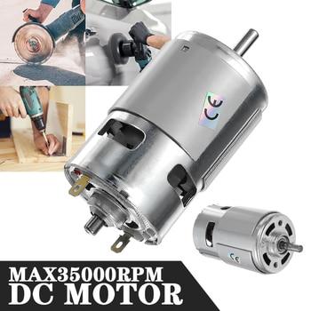 775 Motor DC máx. 35000 RPM-24V DC 12V rodamiento de alto par de alta potencia de bajo ruido de Motor electrónico componente Motor
