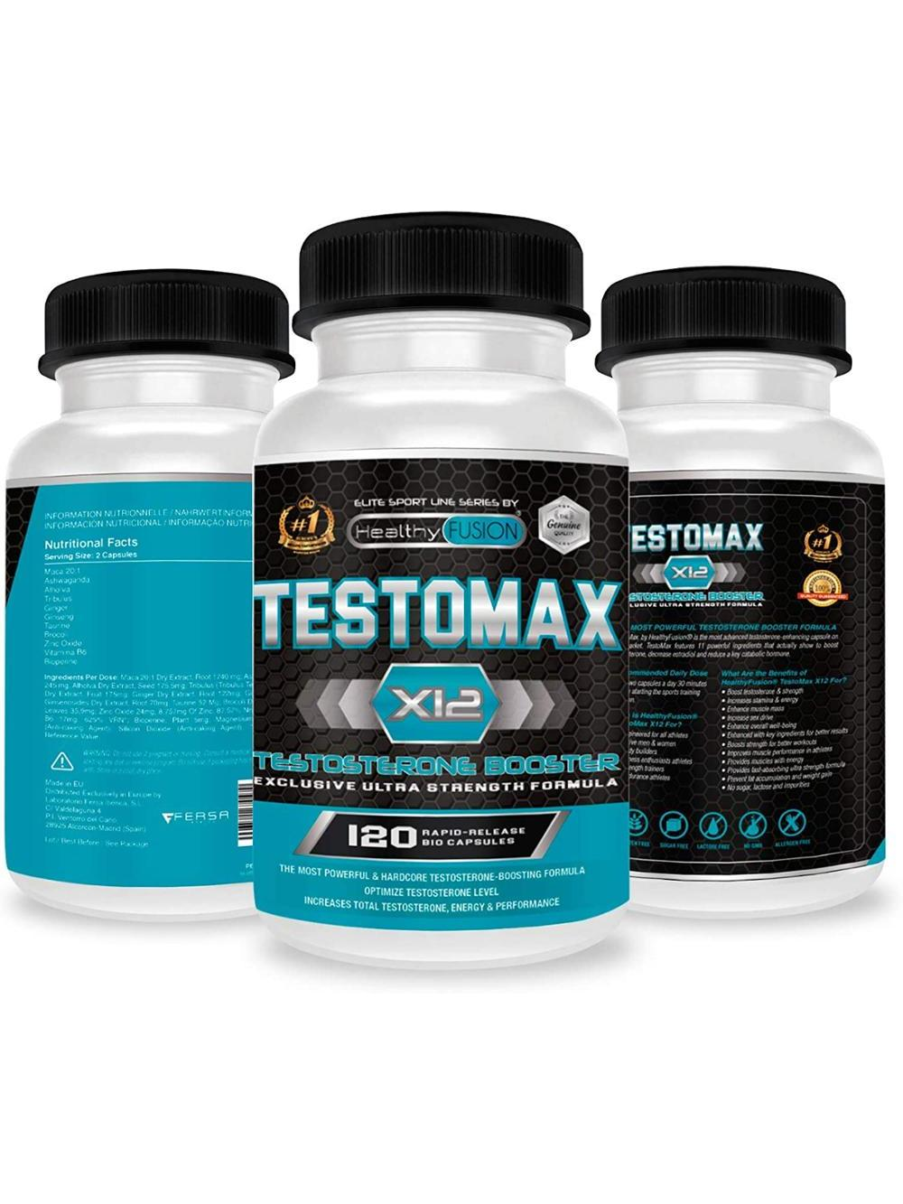 Potent Booster pure testosterone | Maca Andean and taurine | Increases the mass, the performance and the Libido | 120 Caps 4