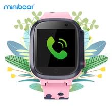 Kinderen Smart Horloge Gps Lbs Wifi Locatie Tracker IP67 Waterdichte Sos Anti Verloren 2G Kids Smartwatch Voor Verjaardag gift Minibear