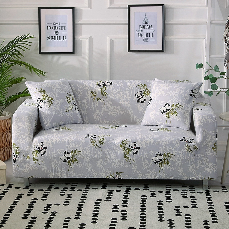 US $5.88 46% OFF|Panda printed Stretch Sofa Covers 1/2/3/4 Cushion Couch  Sofa Slipcovers with Elastic Bottom,Slip Resistant Furniture Protector on  ...