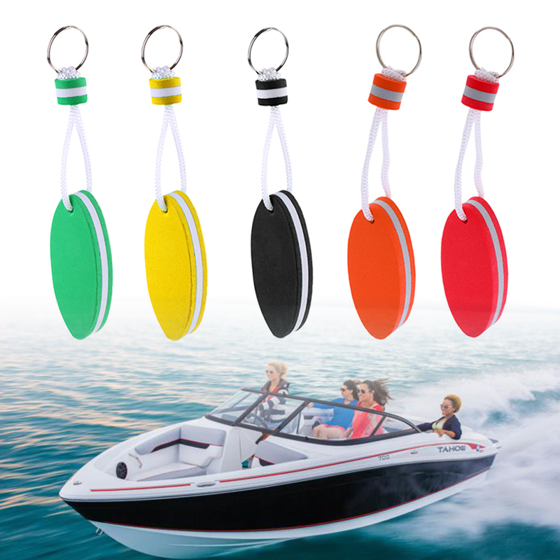 5 Pieces Oval Shaped EVA Foam Floating Key Ring Boat Keychain Boat Floating Key Ring For Water Sports Including Boating, Fishing