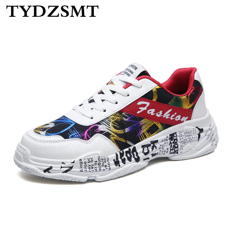TYDZSMT 2020 Summer White Sneakers Sping Woman Casual Fashion Sneakers Graffiti Flats Ladies Vulcanized Shoes Zapatos De Mujer