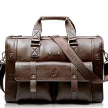 Duża pojemność męska teczka biznesowa torebka skórzana Messenger torebki męskie torby Vintage Laptop torba na ramię męskie torby podróżne tanie tanio Aequeen Wnętrze slot kieszeń Miękki uchwyt 30cm 45cm zipper Ił kieszeń Poliester 1650g Leather 20cm Stałe