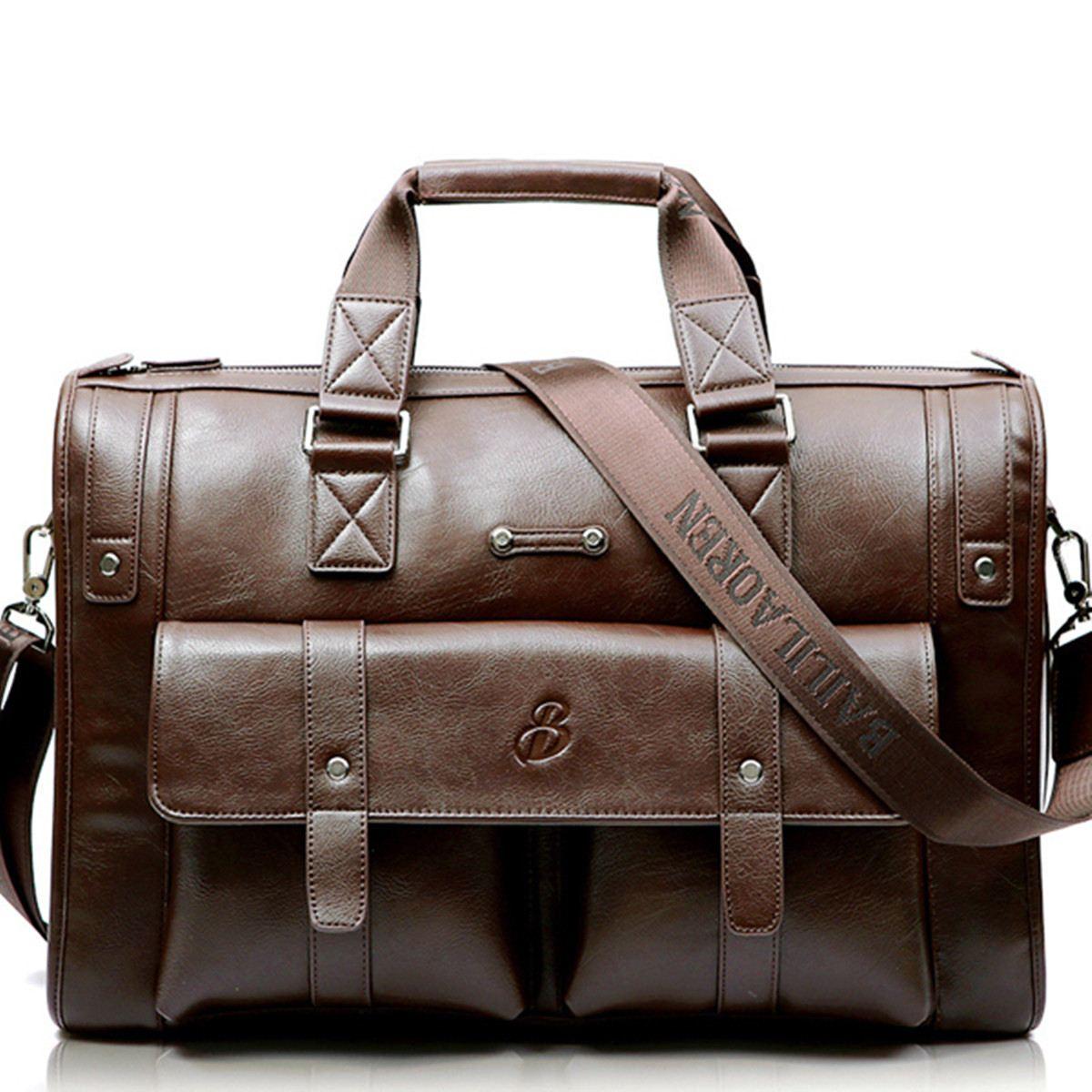 High Capacity Men Briefcase Business Handbag Leather Messenger Handbags Men Bags Vintage Laptop Shoulder Bag Men's Travel Bags
