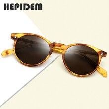 Acetat Polarisierte Sonnenbrille Frauen Neue Vintage Retro Kreis Runde Sonnenbrille für Männer frauen Transparent Sonnenbrille 9113