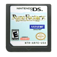 DS Game Cartridge Console Card Rune Factory A Fantasy Harvest Moon USA Version English Language for Nintendo DS 3DS 2DS