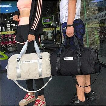 Unisex black travel bag water-repellent Oxford cloth large-capacity luggage bag fashion fitness men's shoulder sports bag cool style oxford cloth slr camera shoulder bag black
