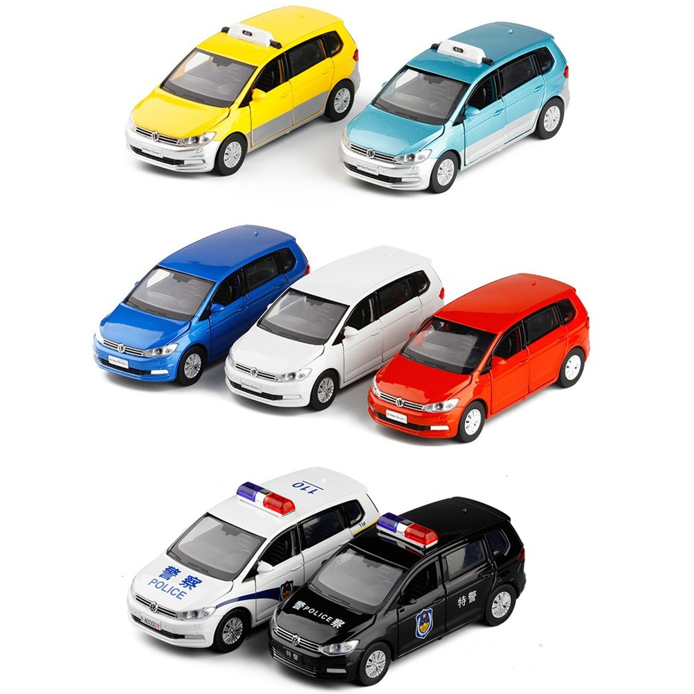 High simulation 1:32 Touran car alloy model,die-cast metal 6 door sound and light model,children's birthday toys,free shipping