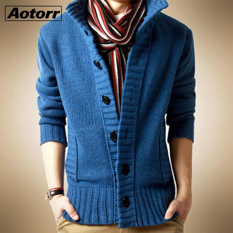 2020 봄 가을 패션 캐주얼 가디건 스웨터 코트 남자 느슨한 적합 100% Terylene 따뜻한 뜨개질 옷 스웨터 코트 남자