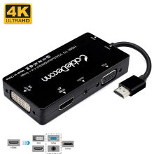 HDMI Splitter zu HDMI DVI VGA Audio Converter Gold-überzogene Jack 4K für Laptop Computer HDTV PS3 Multiport 4-in-1 HDMI Adapter(China)