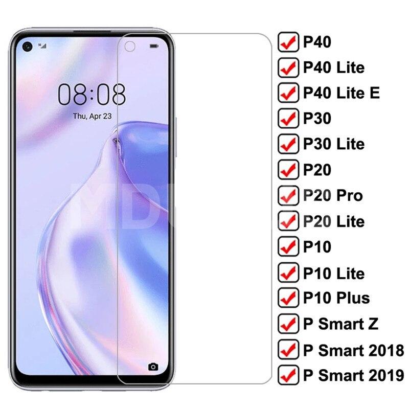 9h anti-explosão de vidro temperado para huawei p30 p40 lite e protetor de tela protetora p20 pro p10 plus p inteligente z 2019 filme de vidro