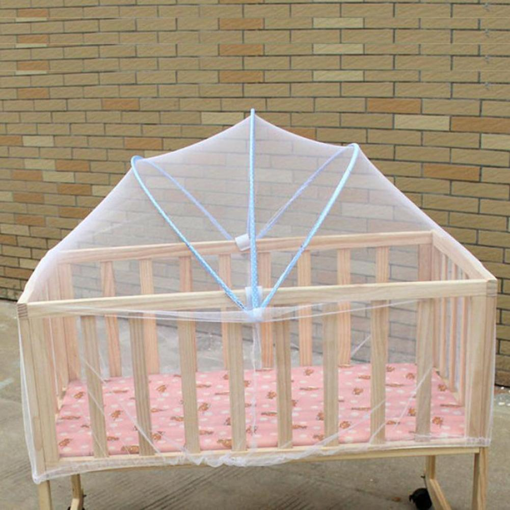 Arched Large Size Baby Bed Curtain Summer Anti Mosquito Insect Baby Cradle Crib Netting White Mesh Net 80-100cm Length