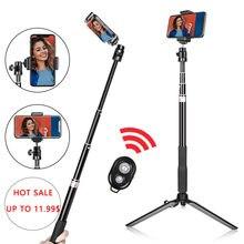 Trépied pour téléphone Portable, bâton de Selfie pour Vlog, anneau lumineux, support avec télécommande Bluetooth et support